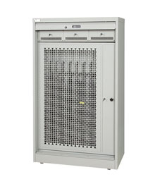 Weapon storage secure cabinet